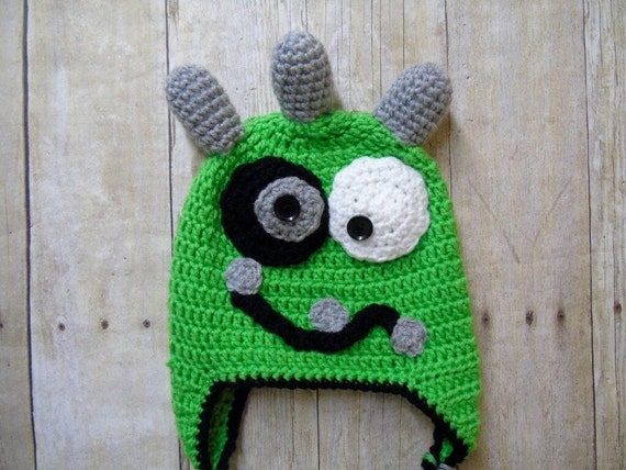 2b7298f6d65 Baby Monster Hat Newborn Monster Hat Infant Monster Hat