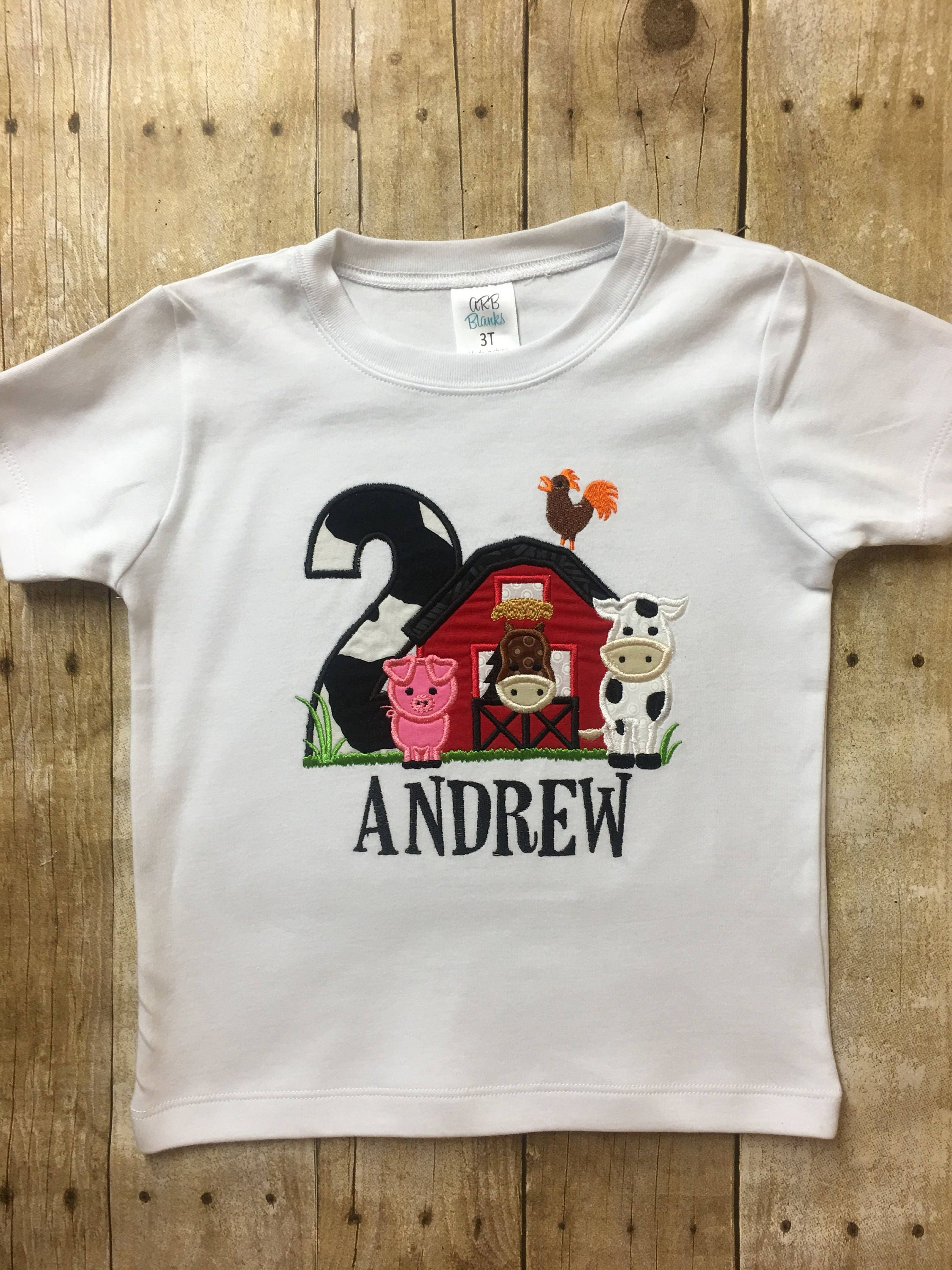 Farm Birthday Shirt 2nd Boy