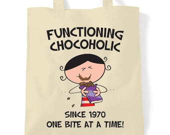 Functioning Chocoholic 1934 85th Birthday Tote Bag