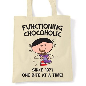Chocolate /& Gin Make Me Grin 80th Birthday Tote Shopping Bag