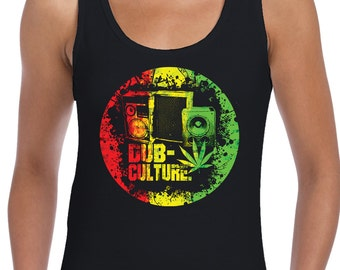 Bob Marley T-Shirt Dub Culture Reggae Women/'s Vest Tank Top