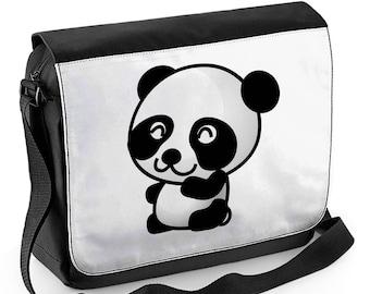 fca53f9e9b85 Cartoon Panda Laptop Messenger Bag - Back to School College University