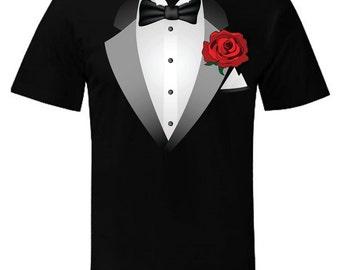 d718b8955 Tuxedo t shirt   Etsy