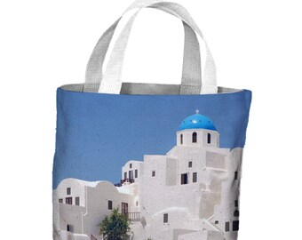 5a1a96d2103 Santorini Rooftops Greece Tote Shopping Bag For Life