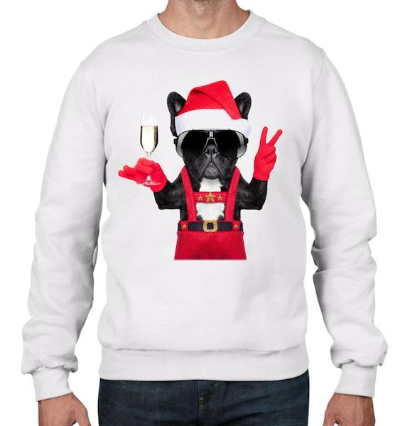 French Bulldog Christmas Jumper.French Bulldog Santa Style Men S Christmas Jumper Bulldog Santa Dog