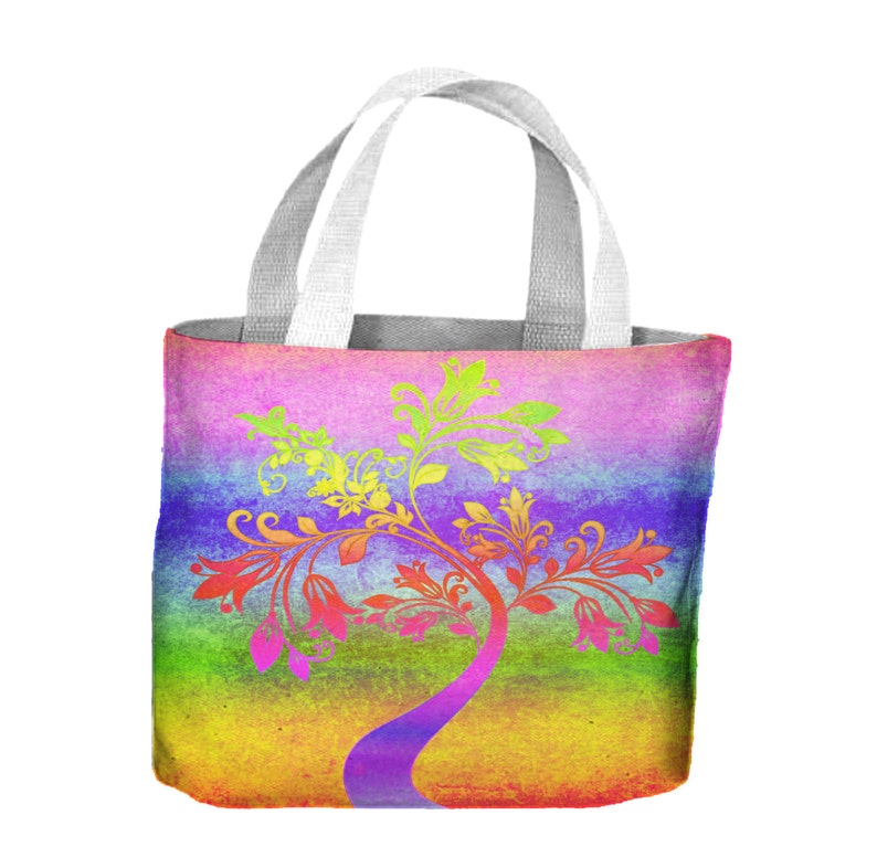 Psychedelic Autumn Tree Tote Shopping Bag For Life