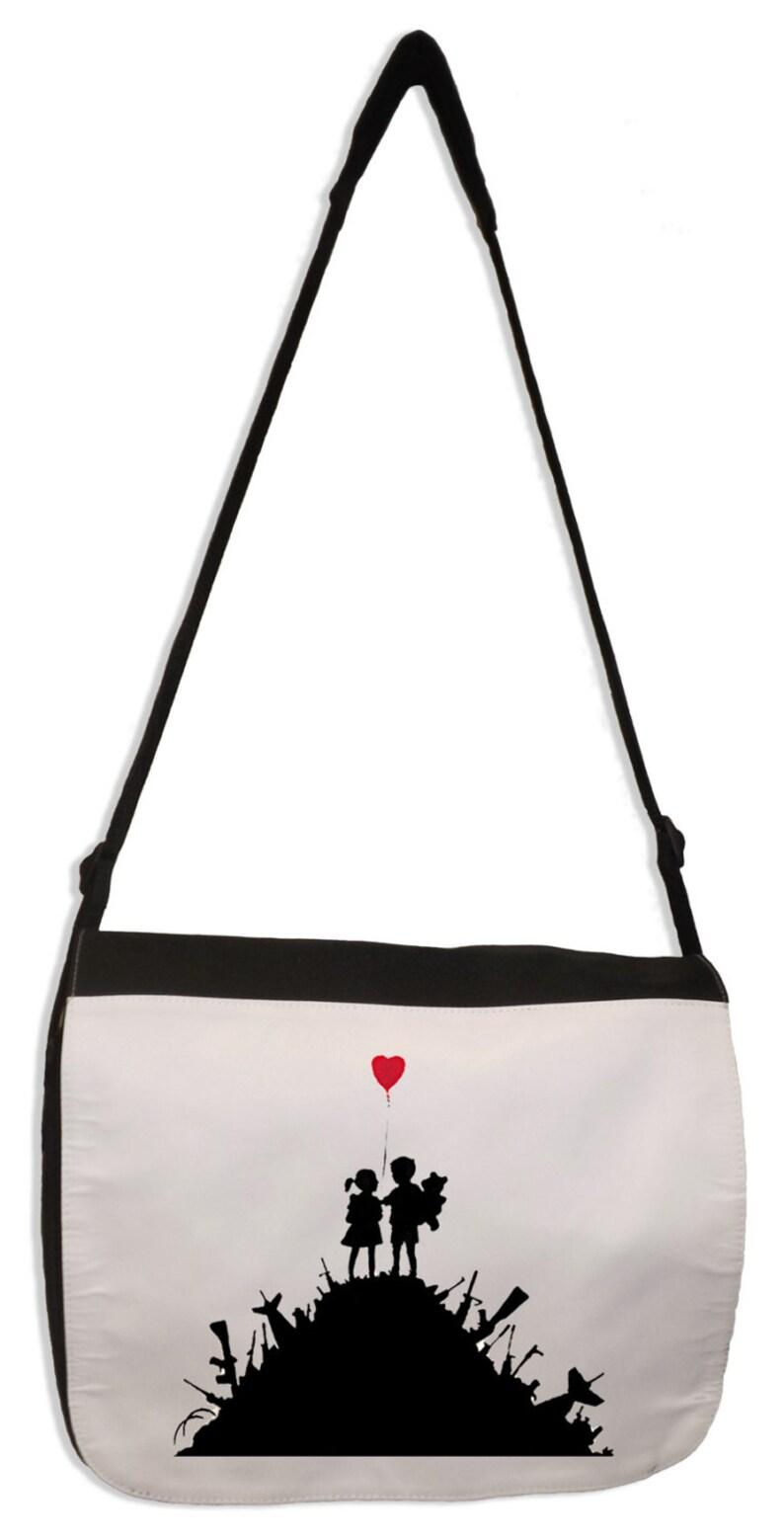 Banksy BARCODE ROBOT Laptop Messenger Bag