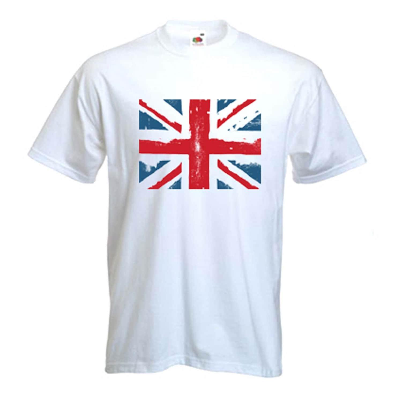 Homme Relco Union Jack T Shirt 100/% Coton Drapeau Front /& Back Ska Mod Punk