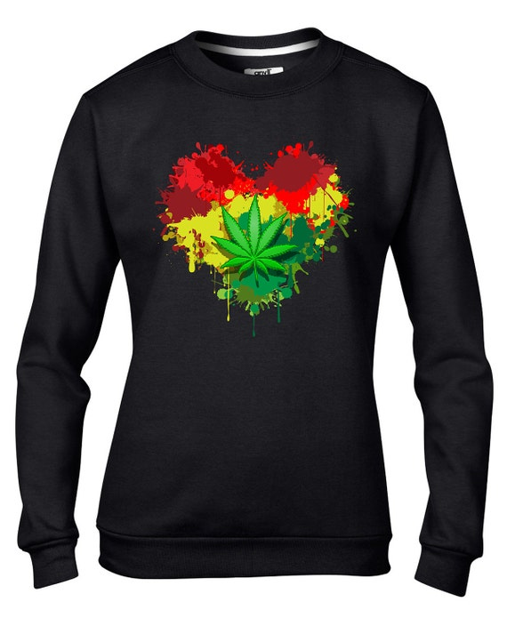 Rasta Heart Women's Sweatshirt Jumper Rastafari Reggae Etsy Adorable Fotos Rastafari Reggae
