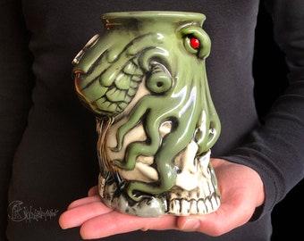 Personalized Cthulhu mug, Custom mug, Gift for him, Gift for her, Personalized Octopus mug