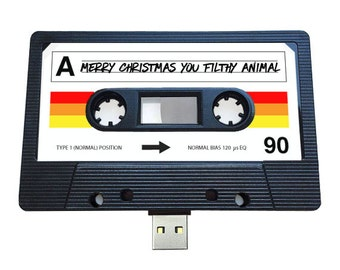 4GB/8GB/16GB USB Mix tape-Retro Personalized-  Xmas Gift -  Present, Boyfriend, Girlfriend, Christmas, Stocking Filler, Quirky