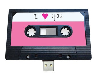4GB/8GB/16GB USB Mixtape - Retro Personalised Gift -  Love, Heart, Birthday, Wedding Present- Boyfriend, Girlfriend, Bestfriend- Flash Drive