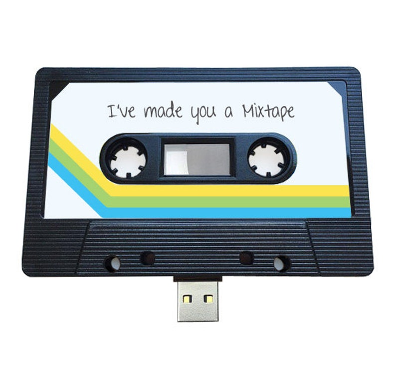 4GB/8GB/16GB USB Authentic Mixtape-Retro Personalized  image 0