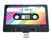 4GB/8GB/16GB USB Mix tape - Retro Personalised Gift -  Rainbow, Birthday, Wedding Present- Boyfriend, Girlfriend, Best friend- Flash Drive