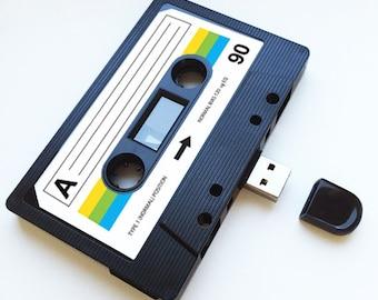 4GB/8GB/16GB USB Mix tape- Retro Personalized- Quirky Gift - Anniversary Present, Boyfriend, Girlfriend, Flash Drive