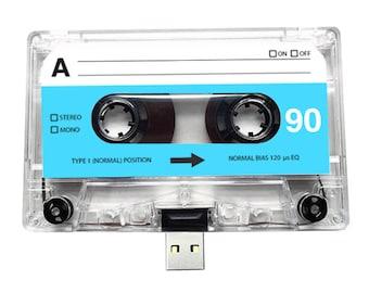 4GB/8GB/16GB USB Mix tape - Retro Personalised Gift - Love, Birthday, Blue, Wedding Present- Boyfriend, Girlfriend, Bestfriend- Flash Drive