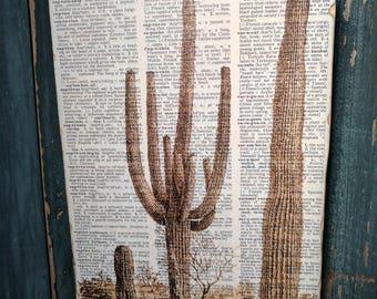 Cactus Wood Art