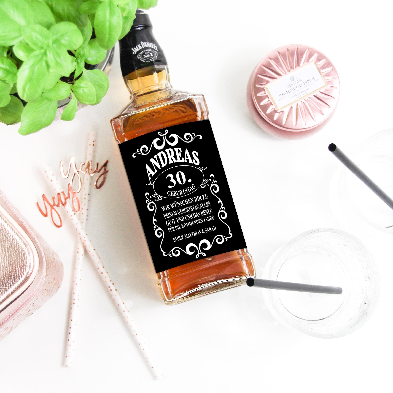 Whiskey Label Birthday Gift Etsy