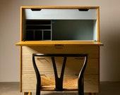 Raymond Loewy Drop Front Cabinet by Mengel