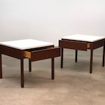 Florence Knoll Walnut Nightstands