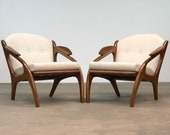 Adrian Pearsall Pair Lounge Chairs by Craft Associates Mid Century