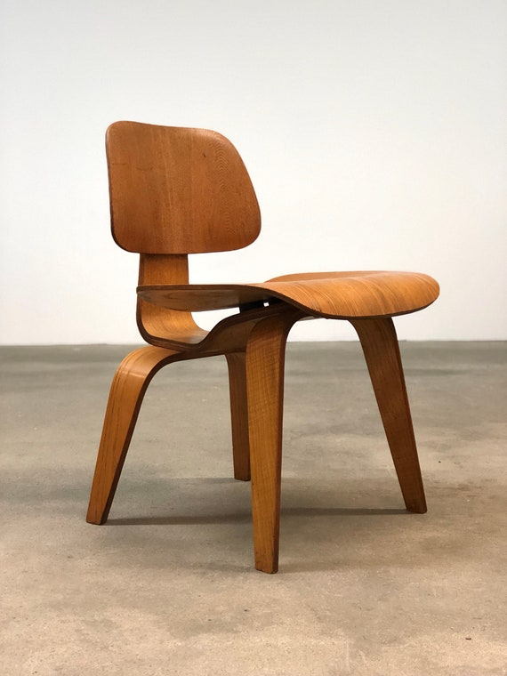 Marvelous Herman Miller Vintage Oak Dcw Chair By Eames Mid Cebtury Pabps2019 Chair Design Images Pabps2019Com
