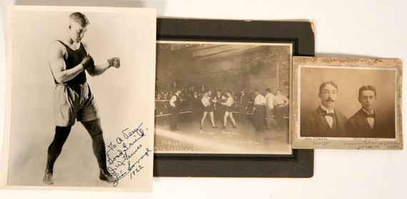 Early Boxing Photos Shields vs. Herberts Autograph