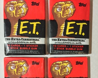 1x 1982 Sealed packs Topps ET the Extra Terrestrial Movie card packs –