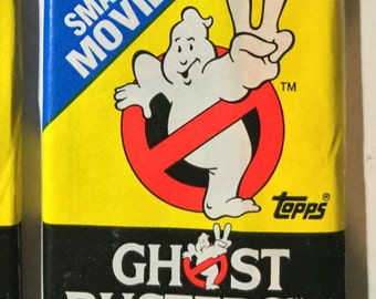 1 1989 Vintage Topps Ghostbusters 2 wax pack trading cards stickers