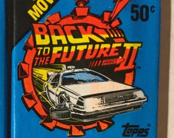 1 Vintage 1989 Topps Back to the Future 2 wax pack trading cards stickers