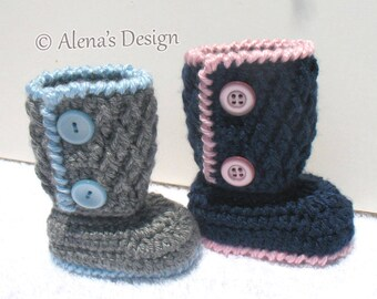 Crochet Bootie Pattern 194 Buttoned Baby Booties Crochet Patterns Baby Booties Pattern Baby Boy Booties Baby Girl Slippers Baby Shower Gift