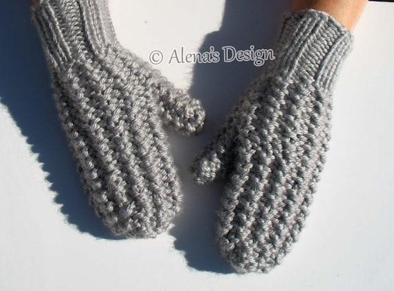 Knitting Mitten Pattern 179 Adult Mittens In Three Sizes Knitting Pattern Womens Mens Mittens Teens Mittens Knitting Glove Pattern Ladies