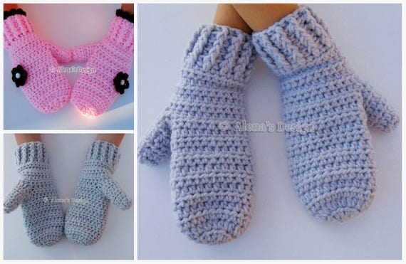 Crochet Mitten Pattern Crochet Pattern 116 For Etsy