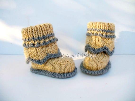 Baby Booties Knitting Pattern 185 Knitting Booties Knitting Etsy