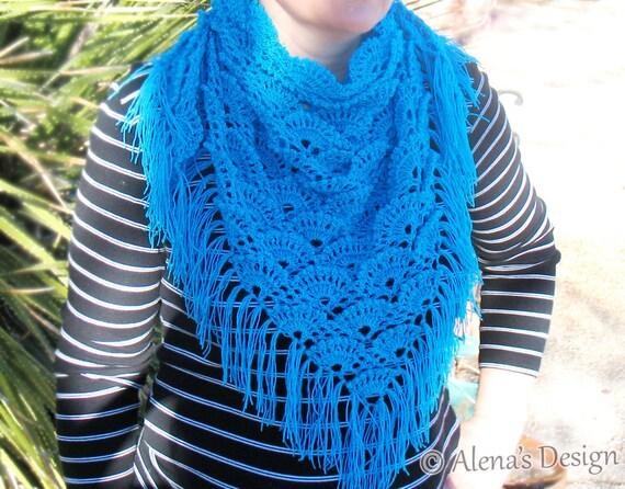 Crochet Pattern 184 Triangle Lace Shawl Crochet Shawl Pattern Etsy