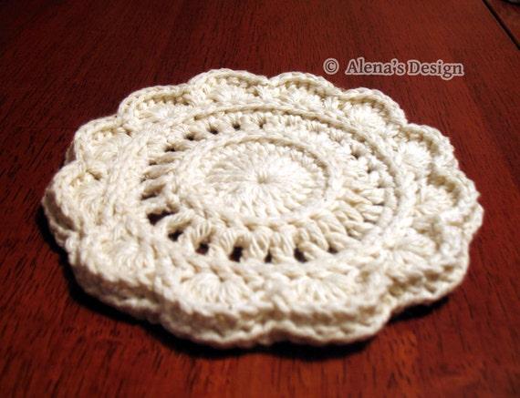 Crochet Pattern 153 Crochet Coaster Floral Style Coaster Etsy