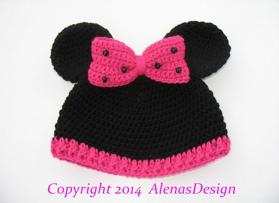 Crochet Hat Pattern Minnie Mouse Hat Mickey Mouse Hat Crochet  6d6154a4465