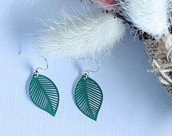 Green Leaf  Earring ~ Gift for Mum ~ Simple Dangle Earrings