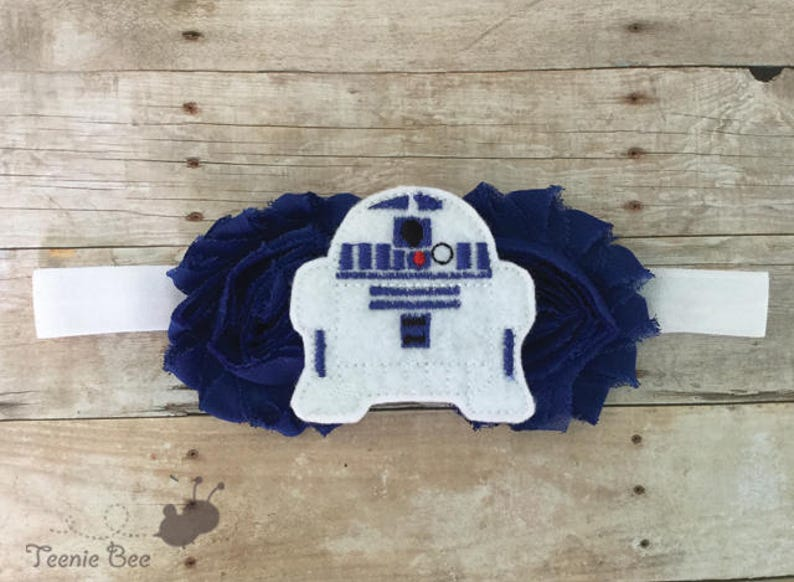 R2D2 Headband for Baby  Star Wars Baby Headband  Star Wars image 0