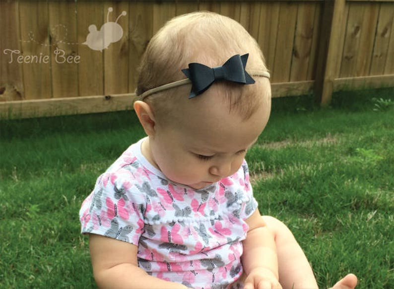 Baby Hair Bows Nylon Headband Baby Girl Headband Baby Headbands Set Leather Hair Bow Headband Newborn Headband Baby Headband