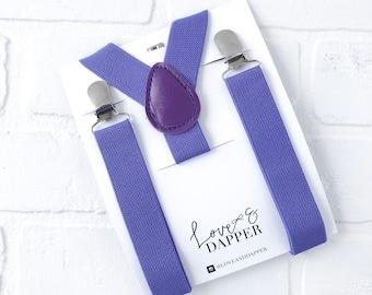 Purple suspenders Baby Suspenders, Toddler Suspenders, Child Suspenders, Ring Bearer, Page Boy, Purple Wedding,  Wedding, Kid Suspender
