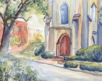Church Watercolor Notecard Set