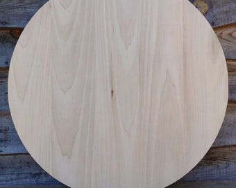Round Wooden Poplar Coffee Pub Table Top