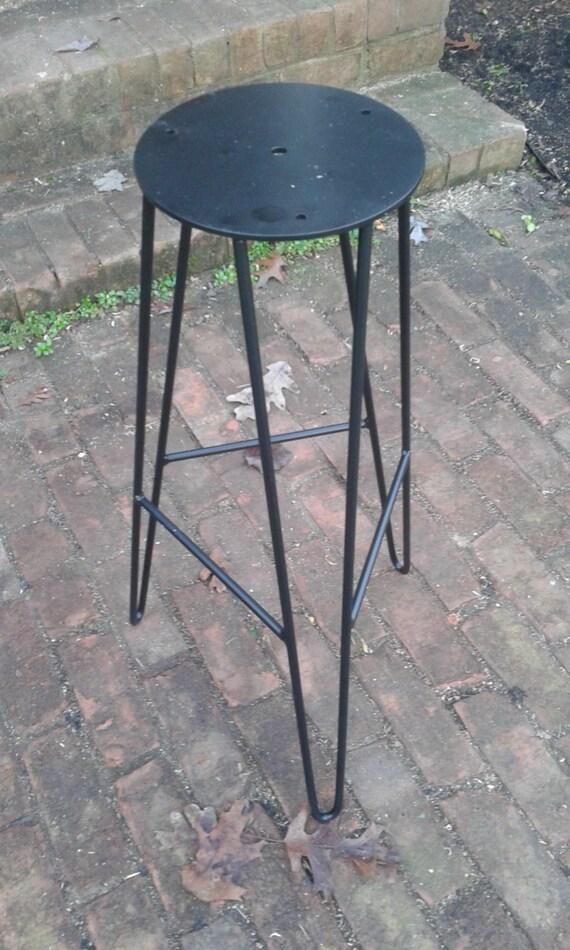Superb Black Powdercoated Hairpin Bar Stool Base Diy Custom Heights Available Evergreenethics Interior Chair Design Evergreenethicsorg