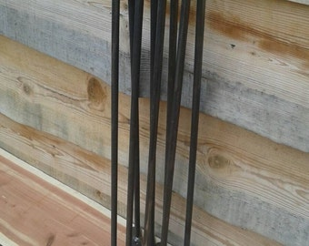 Raw 28 Inch Hairpin Legs - Beeswax coating optional - Price is Per Leg