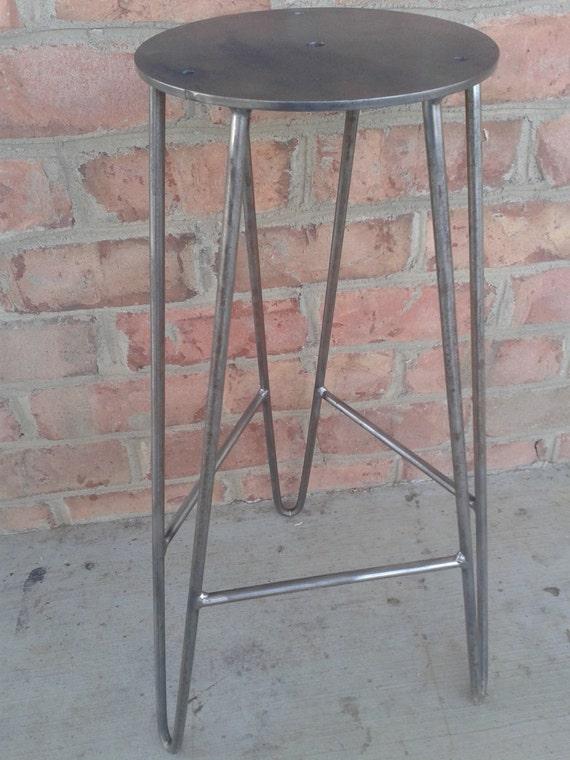 Marvelous Raw Steel Hairpin Bar Stool Base Diy Custom Heights Available Evergreenethics Interior Chair Design Evergreenethicsorg