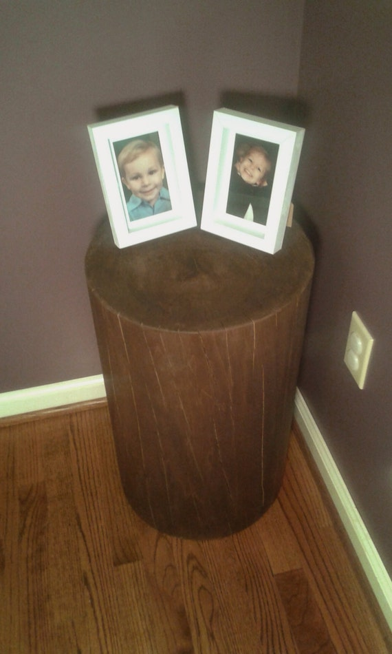 Stool Bedside Table: Chocolate Stump Table Bedside Table Sofa Table Stump Stool