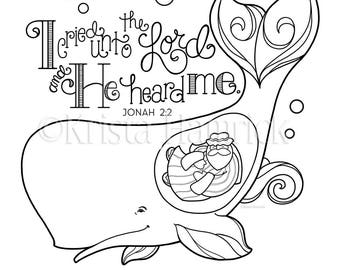 Printable Jonah and the Whale Coloring Pages For Kids | 270x340