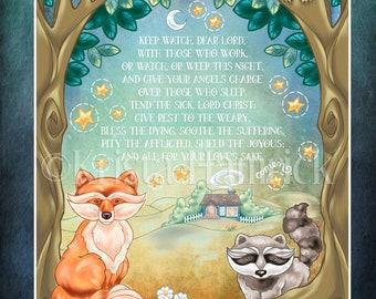 ART PRINT Evening Prayer-- original art print 8X10, 11X14