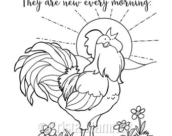 His Mercies Are New Every Morning Coloring Page 85X11 Bible Journaling Tip In 6X8